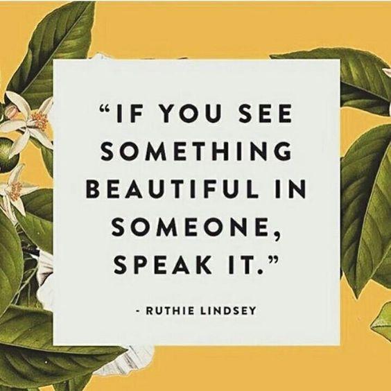 Monday Mantra: Speak to Beauty